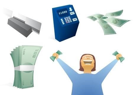 Money / Finance Icon Set Stock Vector - 19177594