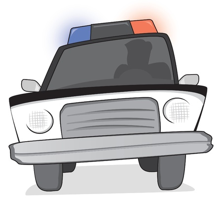 police car: Police patrol at a chase