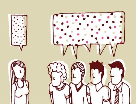 talker: Dialog women and men  Communication - Sweet talker