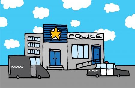 childishness: Cartoon police station Illustration