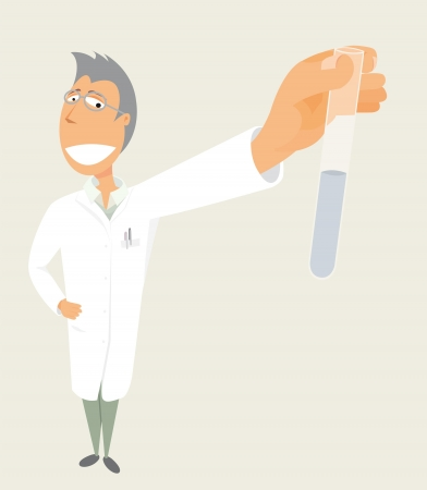 Science / Scientist holding test tube Stock Vector - 19177420