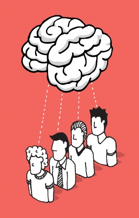 People sharing their mind Vector