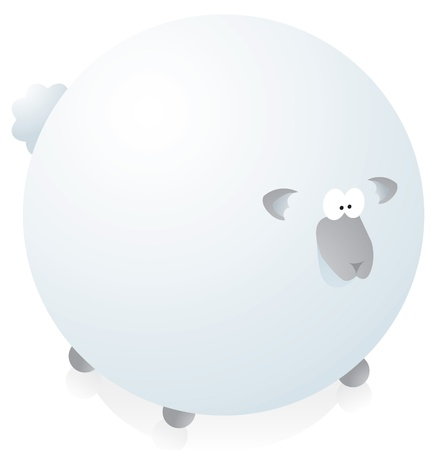 Overweighted round sheep Stock Vector - 19177327