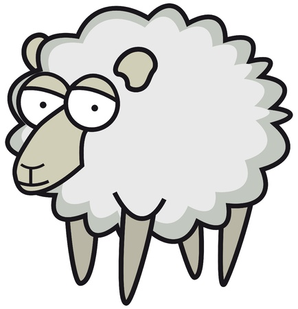 Fluffy sheep Stock Vector - 19177454