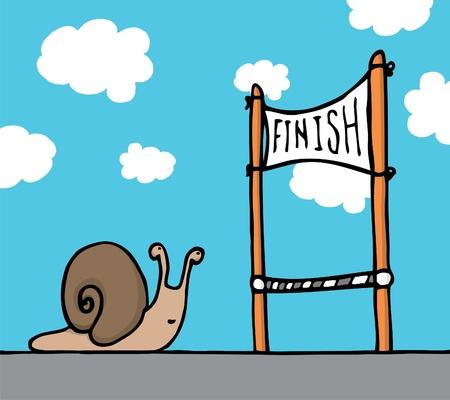 자신의 목표에 달팽이 달팽이