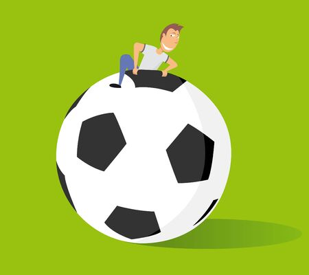 clambering: Huge soccer ball   Big fan of football or Futbol