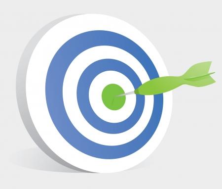bullseye: Dart schlagend Zentrum eines Ziels  Bullseye
