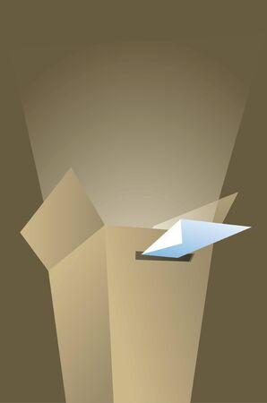 voting ballot: Met�fora Elecci�n - esperanza Votaci�n
