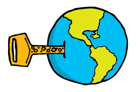 The key to this world Vector