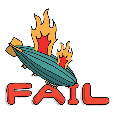 hindenburg: Big zeppelin fail Illustration