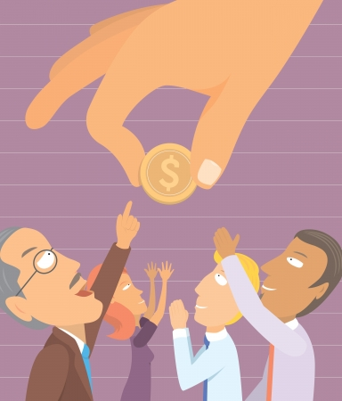 Pleading: People yearning for money