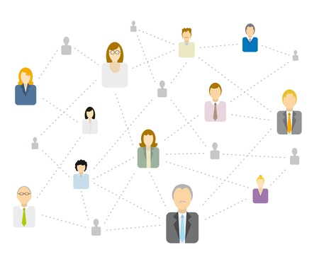 Complex Social network/ Business connecting Stock Vector - 19177800
