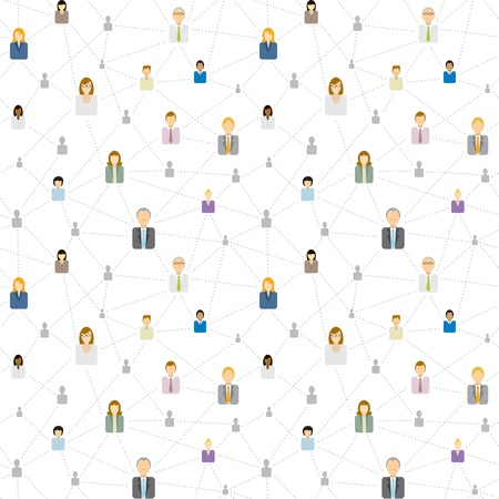 원활한 비즈니스 소셜 네트워크 패턴 일러스트