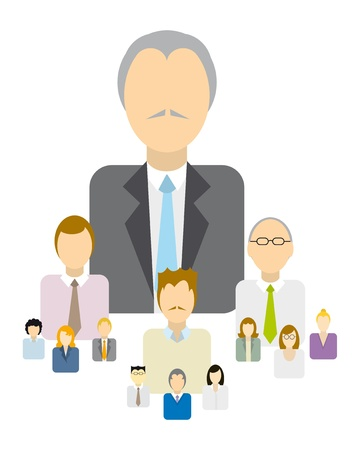 Business hierarchy / Authority Stock Vector - 19177434