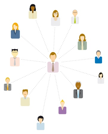 moderator: Forum Moderator   Social and business network or People icon Illustration