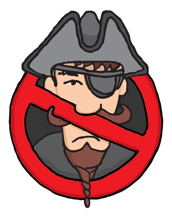 Banned pirate Vector