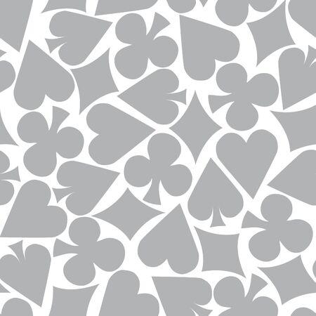hold em: Seamless Poker Pattern Background  grey  Illustration
