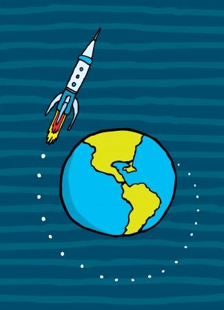 leaving: Rocket aarde te verlaten