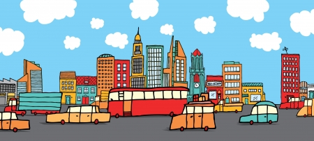 Traffic in the city Vector