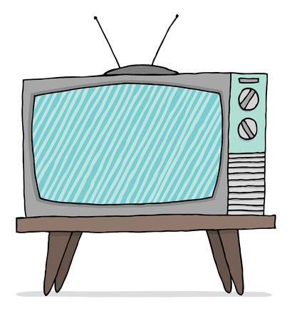 cathode: Vintage tv set malfunction Illustration