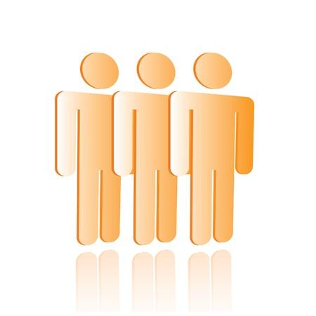 sensory perception: Shiny Icons: PeopleCustomers