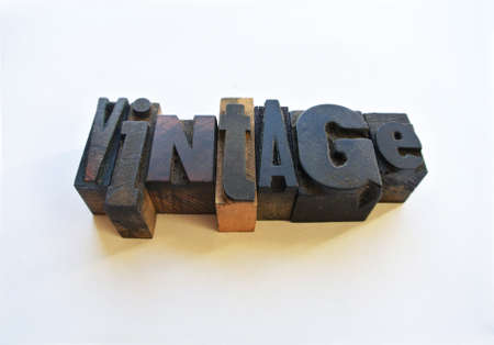 Wooden typography setting vintage text Stock Photo - 21641486