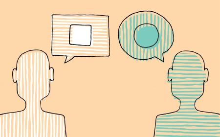 異なる意見を議論する人々