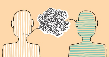 communication breakdown: Communicating a message Illustration