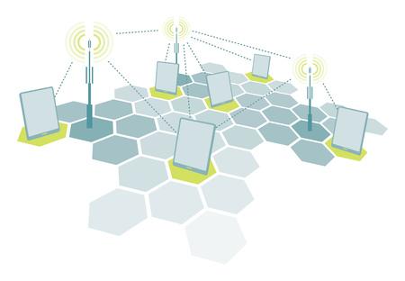 microwave antenna: Conexi�n de dispositivos de tabletas wifi con antenas