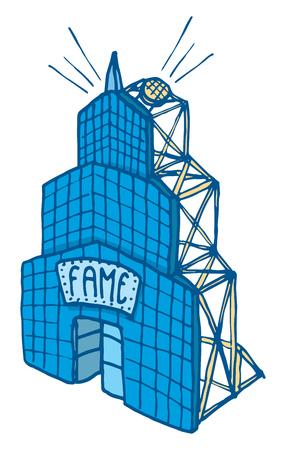 Fame represented as a false facade