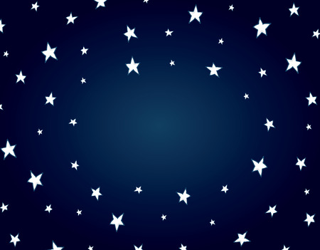 Cartoon illustration of a night star background with copy space Vector