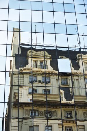 reflex: Hole on a building reflex Stock Photo