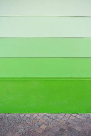 degrade: Green degrade wall and floor