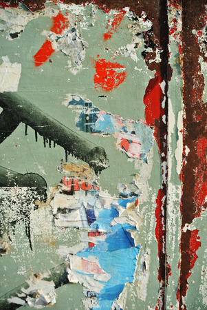 Photograph of urban random texture on eroded wall background Stock Photo