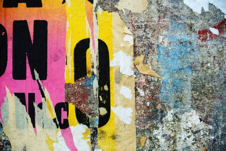 Photograph of urban random collage background or typography texture