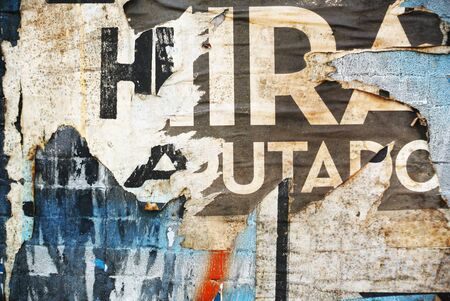 urban: Photograph of urban collage background or paper texture
