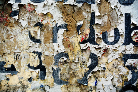 Photograph of urban collage background or paper texture
