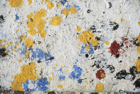 trashy: Photograph of urban collage background or splatter colorful paint texture Stock Photo