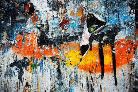 trashy: Photograph of urban collage background or paint texture