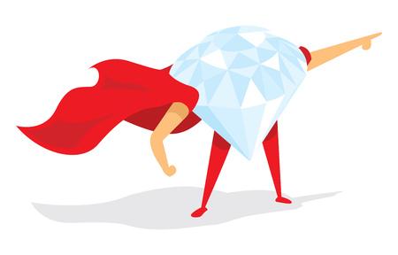 43f91e2005998  51818464 - Ilustración de dibujos animados de diamantes súper héroe con el  cabo. Vector. Imágenes similares