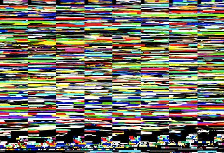 glitch: Digital capture of colorful display error or random glitch noise Stock Photo