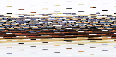 accidental: Digital capture of colorful display error or random glitch noise Stock Photo