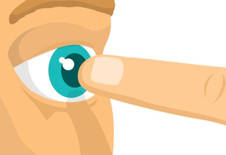 극단적으로 눈에 가까운 협박 손가락의 만화 그림