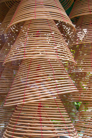 circular incense in Chinese Temple Stock Photo - 12431673