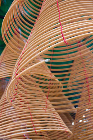 circular incense in Chinese Temple photo