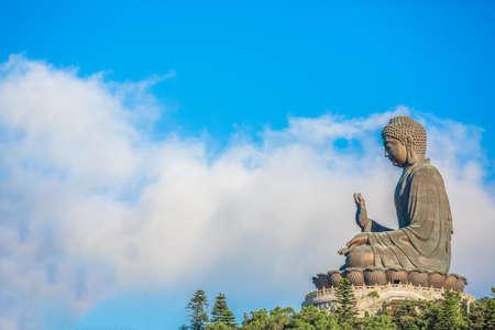 lantau: Buddha with the blue sky, Po Lin Monastery, Lantau Island, Hong Kong