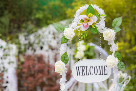 Welcome Plate of wedding venue photo