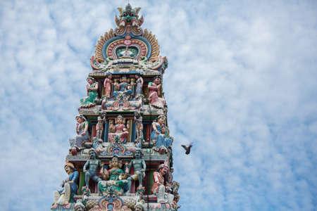 mariamman: Sri Mariamman Hindu temple China Town Singapore Stock Photo