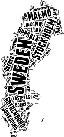 Sweden  Word Map Word Cloud Typography Concept
