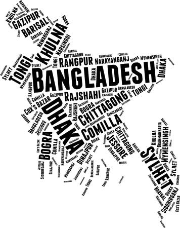 Bangladesh  Word Map Word Cloud Typography Concept